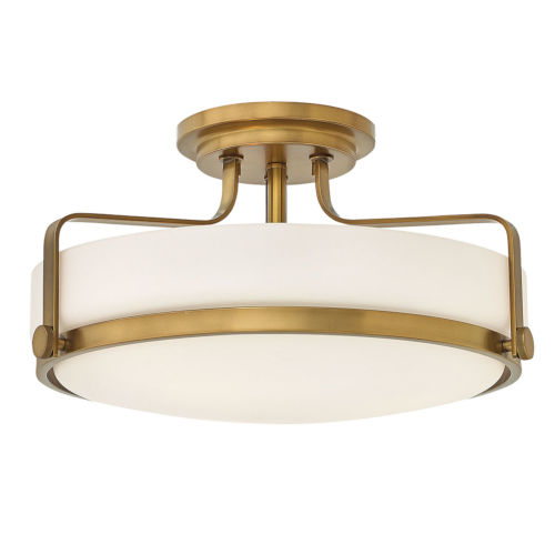 Harper Heritage Brass 18-Inch LED Semi-Flush Mount