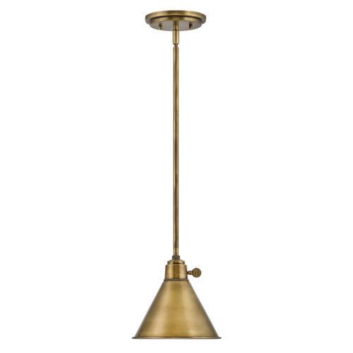 Arti Heritage Brass 8-Inch One-Light Mini Pendant