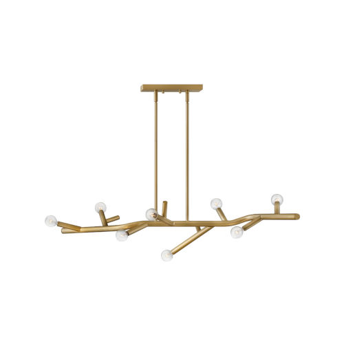 Twiggy Light Brass Eight-Light Pendant