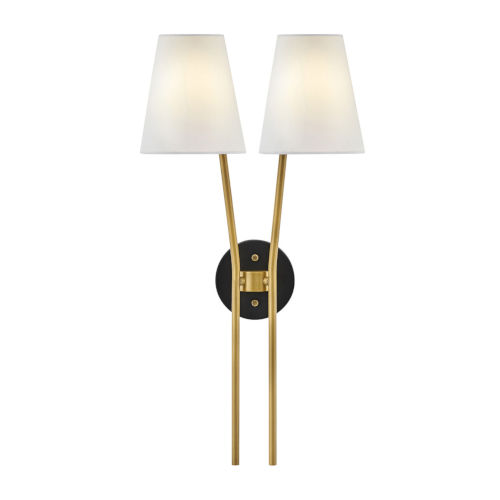 Aston Heritage Brass Two-Light Wall Sconce