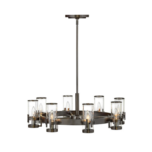 Reeve Black Oxide Eight-Light Chandelier