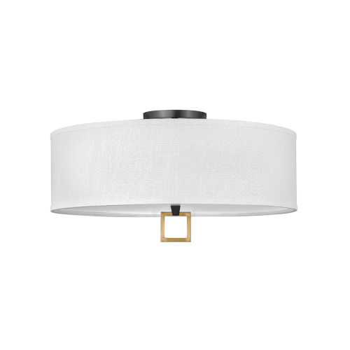 Link Black 13-Inch Four-Light LED Semi-Flush Mount