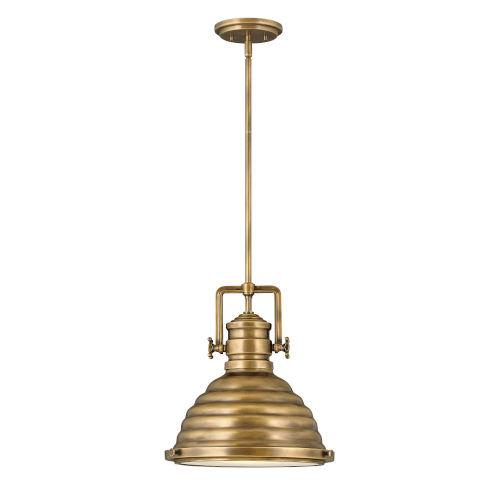 Keating Heritage Brass One-Light Pendant