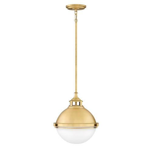 Hinkley Fletcher Satin Brass 14-Inch Two-Light Pendant