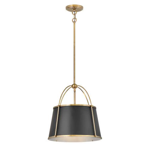 Clarke Warm Brass One-Light Chandelier