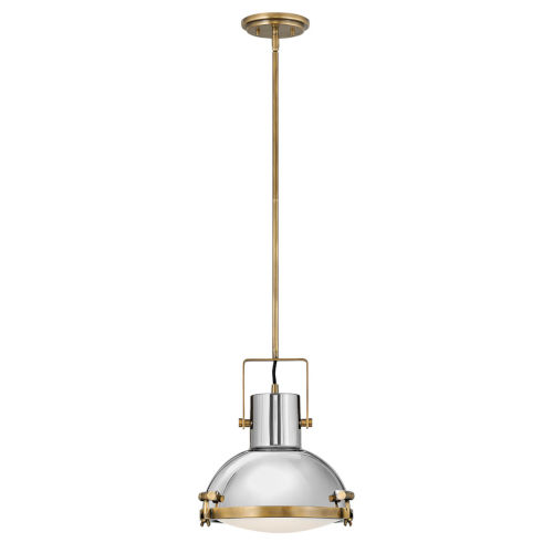 Nautique Heritage Brass 13-Inch One-Light Pendant