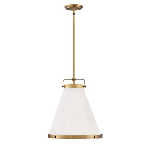 Lark Lacquered Brass 16-Inch One-Light Pendant