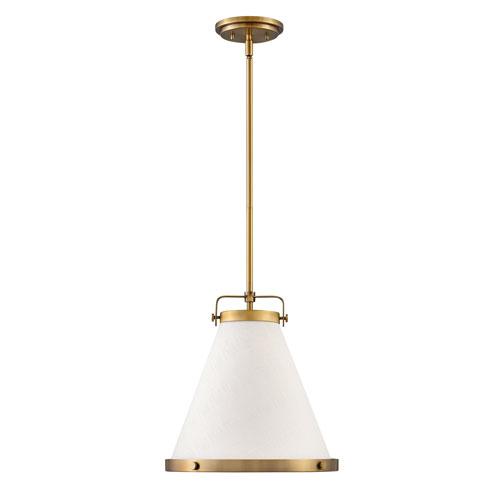 Lark Lacquered Brass 13-Inch One-Light Pendant