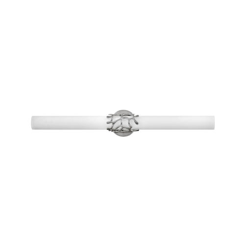 Lyra Brushed Nickel 31-Inch Integrated Led Bath Bar With Etched Opal Glass