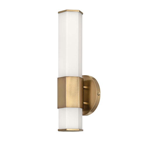 Facet Heritage Brass Five-Inch LED ADA Bath Sconce
