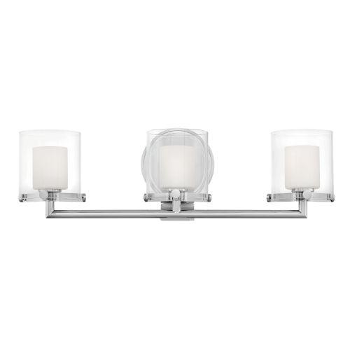 Rixon Chrome Three-Light LED Bath Vanity