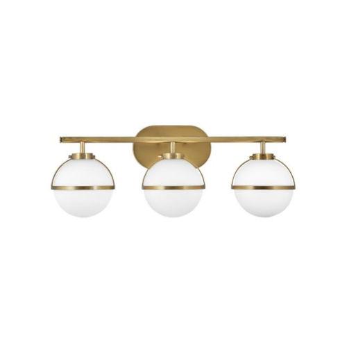Hollis Heritage Brass Three-Light Led Bath Vanity