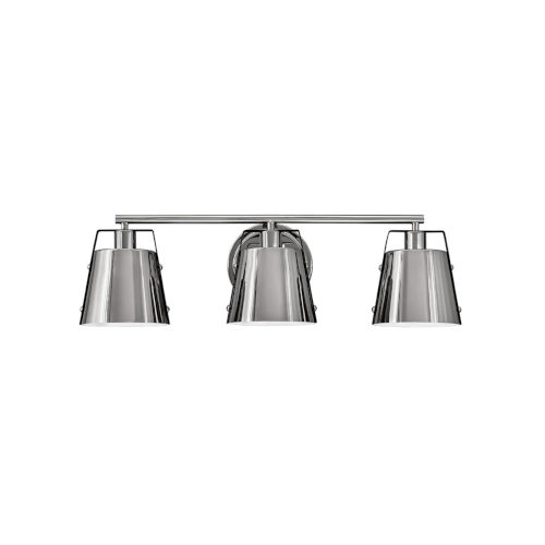 Cartwright Polished Nickel Three-Light Bath Vanity