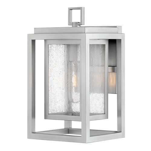 Republic Satin Nickel One-Light Outdoor Small Wall Mount