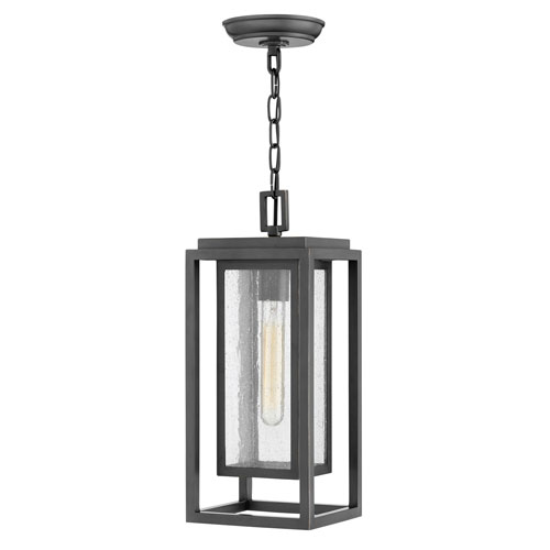Republic Oil Rubbed Bronze One-Light Outdoor Hanging Light