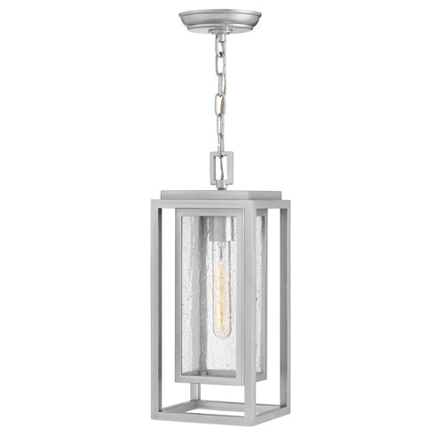 outdoor hanging lights rectangle glass pendant republic satin nickel onelight outdoor hanging light lights lanterns bellacor