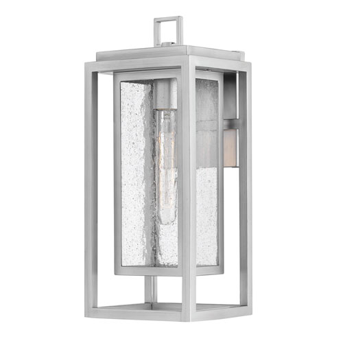 Republic Satin Nickel One-Light Outdoor Medium Wall Mount