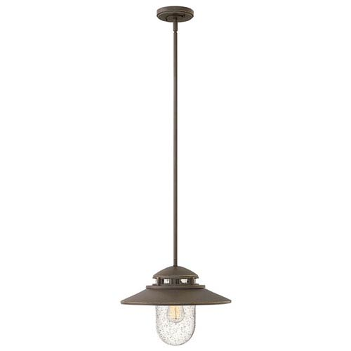 Atwell Aged Zinc One-Light Outdoor 11-Inch Hanging