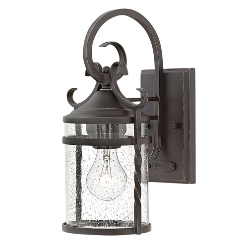 Hinkley Casa Olde Black 7-Inch One-Light Outdoor Small Wall Mount