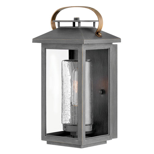 Hinkley Atwater Ash Bronze One-Light Outdoor Small Wall Mount