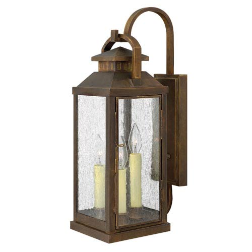 Revere Sienna Three-Light Large Outdoor Wall Light