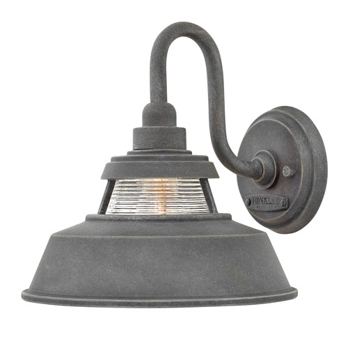 Troyer Aged Zinc 10-Inch One-Light Outdoor Medium Wall Mount