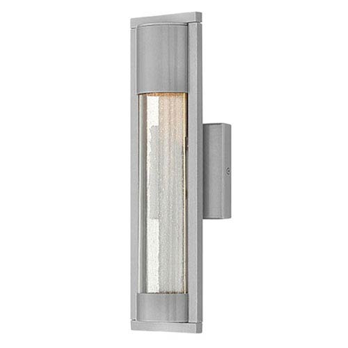 Hinkley Mist Satin Black One-Light Outdoor 15.5-Inch Small Wall Mount
