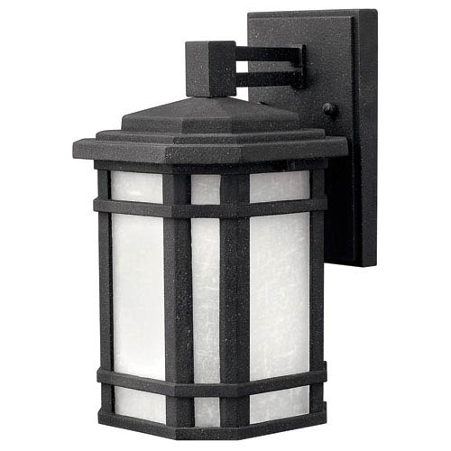Cherry Creek Vintage Black 11-Inch One-Light Outdoor Wall Mount
