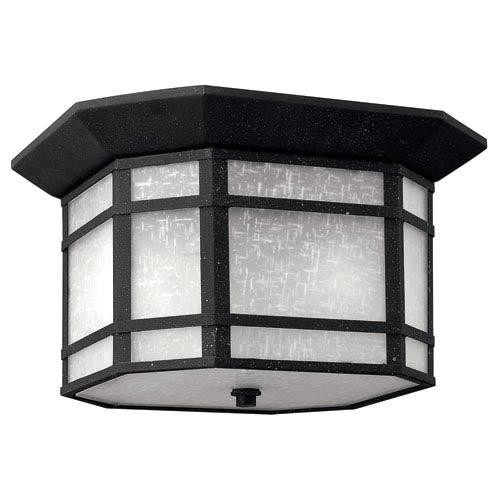 Cherry Creek Vintage Black Two-Light Outdoor Ceiling Light