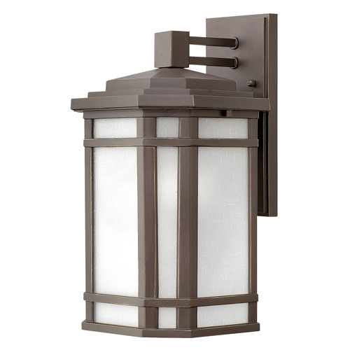 Hinkley Cherry Creek Oil Rubbed Bronze 9-Inch LED Outdoor Medium Wall Mount