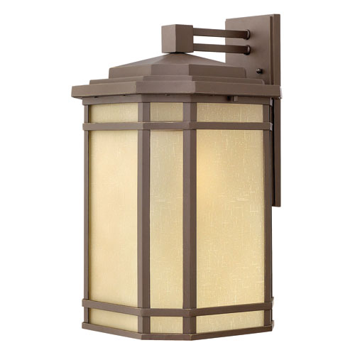 Hinkley Cherry Creek Oil Rubbed Bronze 20.5-Inch One-Light Large Outdoor Wall Lantern