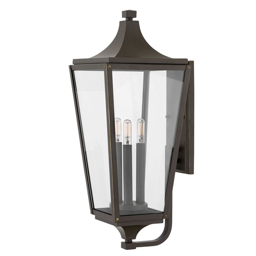 Jaymes Oil Rubbed Bronze Three-Light Outdoor Large Wall Mount