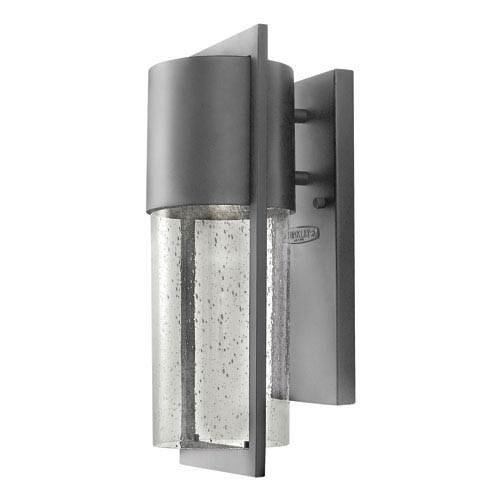 Shelter Hematite 6-Inch One-Light Outdoor Wall Light