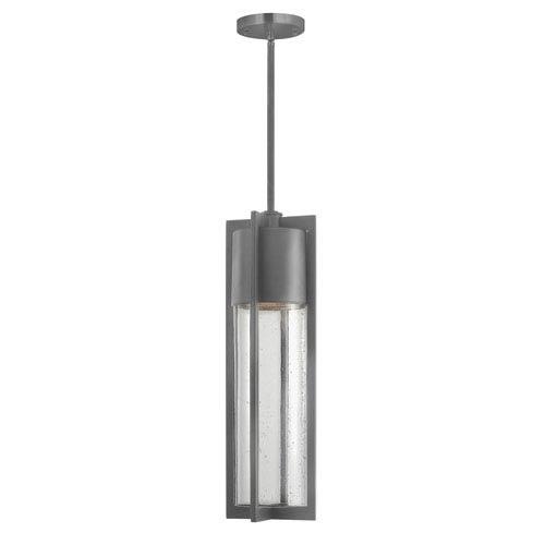 Hinkley Shelter Hematite One-Light LED Outdoor Pendant