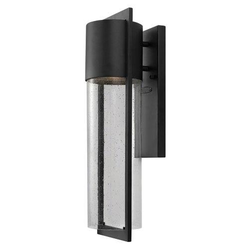 Shelter Black One-Light Medium LED Outdoor Wall Light