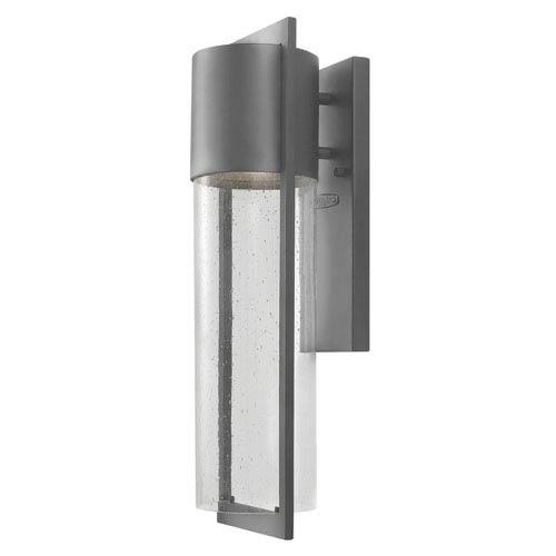 Hinkley Shelter Hematite Medium One-Light LED Outdoor Wall Light