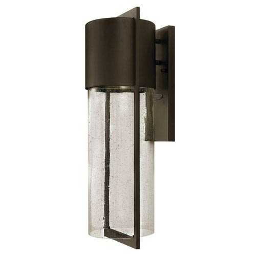 Hinkley Shelter Buckeye Bronze Large One-Light LED Outdoor Wall Light