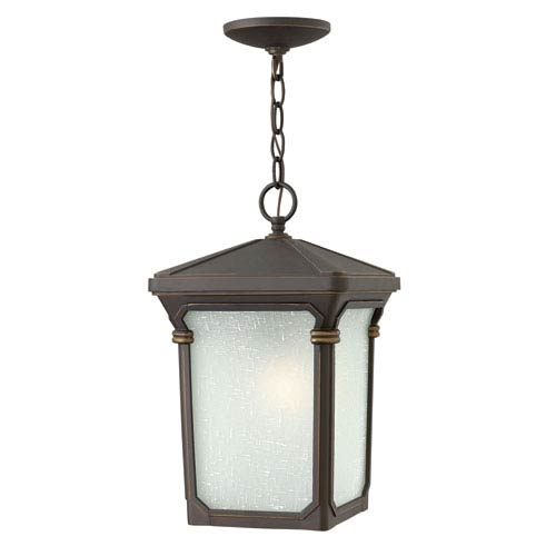 Hinkley Stratford Oil Rubbed Bronze 15.5-Inch One-Light Outdoor Hanging Pendant