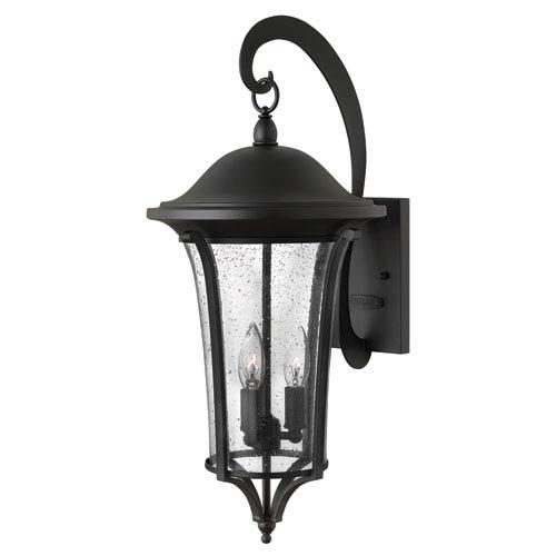 Hinkley Chesterfield Black 23.5-Inch Three Light Outdoor Wall Lantern