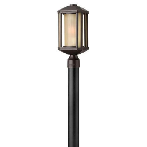 Hinkley Castelle Bronze One-Light Fluorescent Outdoor Post Light