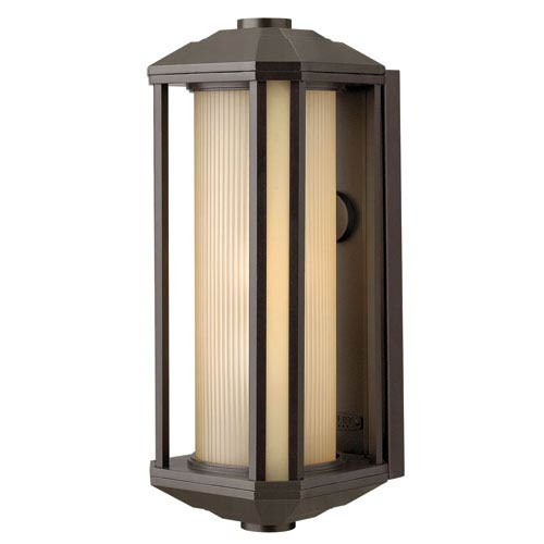 Hinkley Castelle Bronze One-Light Large Fluorescent Outdoor Wall Light