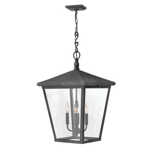 Trellis Aged Zinc Four-Light Outdoor Pendant