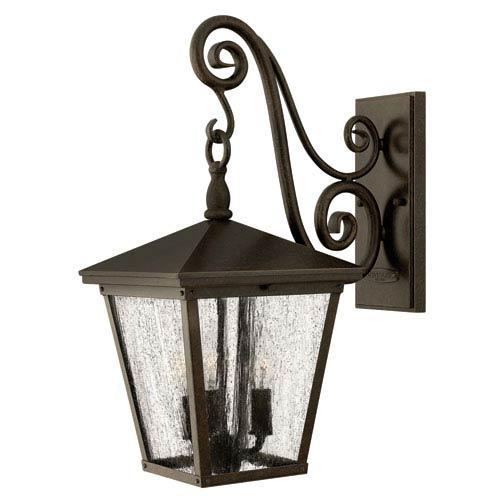 Trellis Regency Bronze Medium Three-Light Outdoor Wall Light