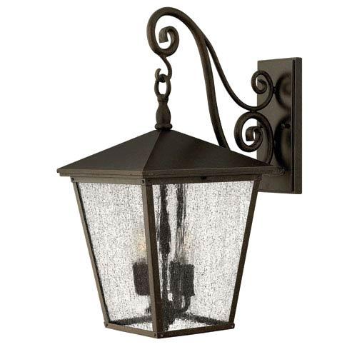 Hinkley Trellis Regency Bronze Large Three-Light LED Outdoor Wall Light