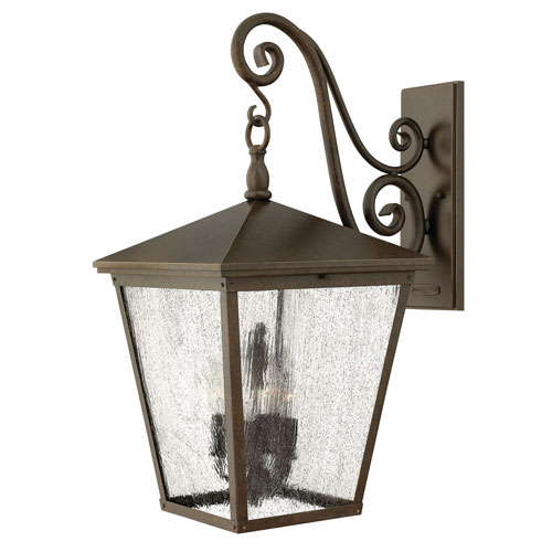 Trellis Regency Bronze 13-Inch Four-Light Outdoor Extra Large LED Wall Mount