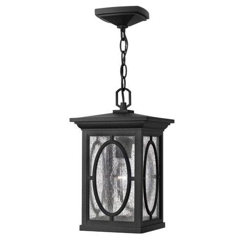 Hinkley Randolph Black 14-Inch One-Light Outdoor Hanging Pendant