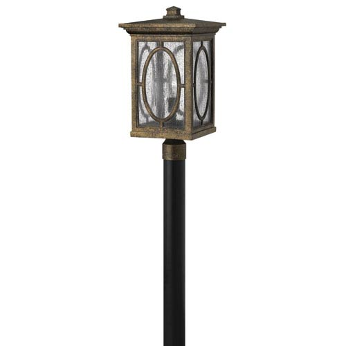 Hinkley Randolph Autumn 21-Inch Clear Seedy Glass Panel One-Light Outdoor Post Mount