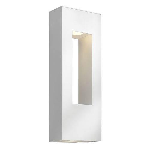 Atlantis Satin White Large Two-Light Outdoor Wall Light