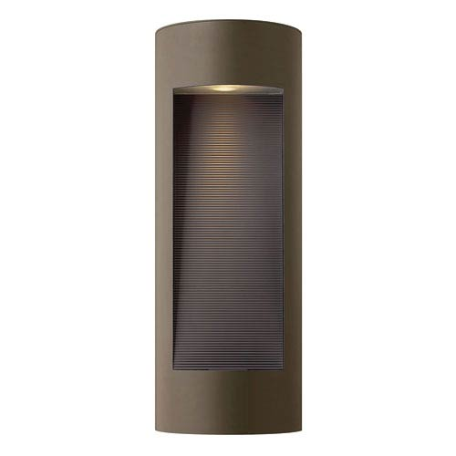 Hinkley Luna Bronze Two-Light Large LED Outdoor Wall Light