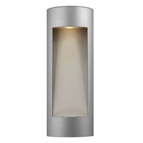 Luna Titanium Tall Flush Dark Sky Outdoor Wall Light